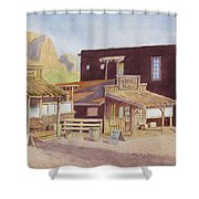 Gold Town By Superstition Mountains Shower Curtain