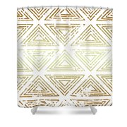 Gold Tribal Shower Curtain
