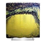 Gold Underground Shower Curtain