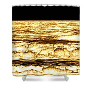 Gold Waves Shower Curtain