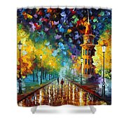 Gold Winter Shower Curtain