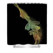 Gold Wire Abstract Shower Curtain