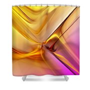 Golden Abstract 042711 Shower Curtain