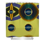 Golden Abstracte Shower Curtain