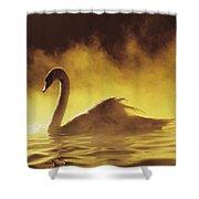 Golden African Swan Shower Curtain
