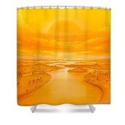 Golden Ages Shower Curtain