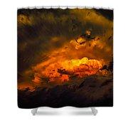 Golden Anvil Shower Curtain