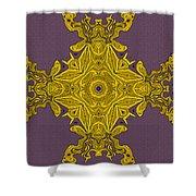 Golden Artifact Shower Curtain