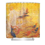 Golden Autumn Fairy Tale Shower Curtain