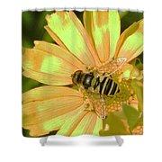 Golden Bee Shower Curtain
