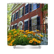 Golden Blooms At The Dahlonega Gold Museum Shower Curtain