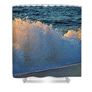 Golden Blue Splash Shower Curtain