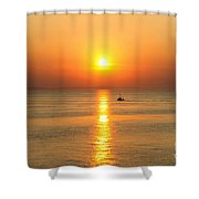 Golden Border  Shower Curtain