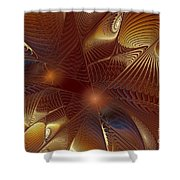 Golden Bronze Swirl Shower Curtain