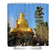 Golden Buddha In Vietnam Dalat Shower Curtain