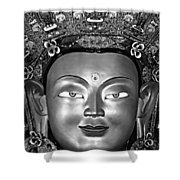 Golden Buddha Monochrome Shower Curtain