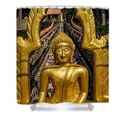 Golden Buddhas Shower Curtain