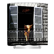 Golden Bull Shower Curtain
