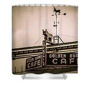 Golden Burro Cafe 2 Shower Curtain