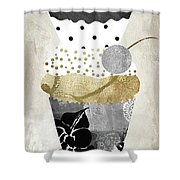 Golden Cakes Shower Curtain