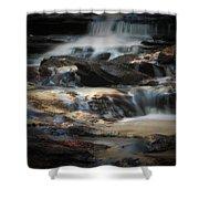 Golden Cascade Shower Curtain