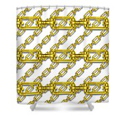 Golden Chains With White Background Seamless Texture Shower Curtain