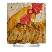 Golden Chicken Shower Curtain