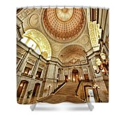 Golden City Hall Shower Curtain