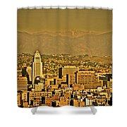 Golden City Hall La Shower Curtain