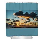 Golden Cloud Sunrise Delray Beach Florida Shower Curtain