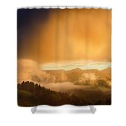 Golden Clouds And Fog At Sunrise In The Mountains Of Kamnik Savi Shower Curtain