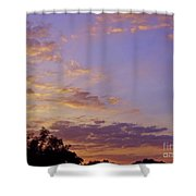 Golden Clouds At Sunset Shower Curtain