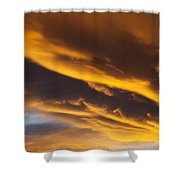 Golden Clouds Shower Curtain by Garry Gay