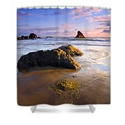 Golden Coast Shower Curtain