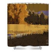 Golden Cottonwood Shower Curtain