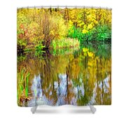 Golden Creek Shower Curtain