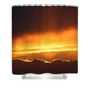 Golden Crested Clouds Shower Curtain