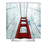 Golden Crossing - Golden Gate Bridge San Francisco Shower Curtain