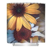 Golden Daisies Shower Curtain