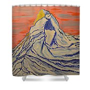 Golden Dawn On Matterhorn Shower Curtain