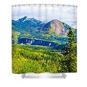 Golden Denali Shower Curtain