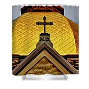 Golden Dome Notre Dame Shower Curtain