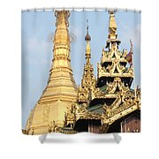Golden Dome Shower Curtain
