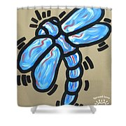 Golden Dragonfly Shower Curtain