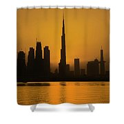 Golden Dubai Shower Curtain