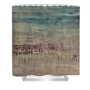 Golden Dusk Shower Curtain