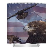 Golden Eagle Collage Shower Curtain