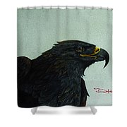 Golden Eagle- Head Study Shower Curtain