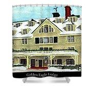 Golden Eagle Lodge Shower Curtain