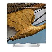 Golden Eagle Masthead Shower Curtain